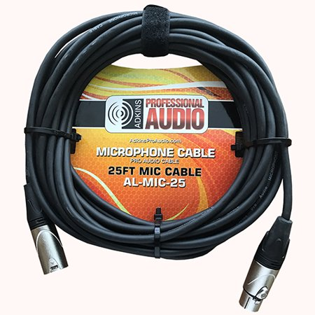 Microphone Cable 25 Foot XLR to XLR Mic Cable - Adkins Professional Audio