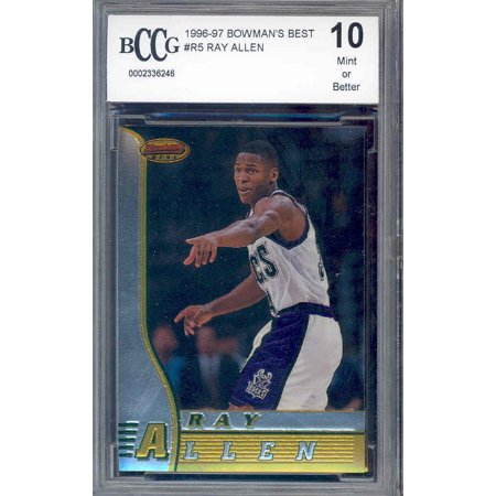 1996-97 bowman's best #5 RAY ALLEN milwaukee bucks rookie card BGS BCCG (Best Trading Card Games Pc)