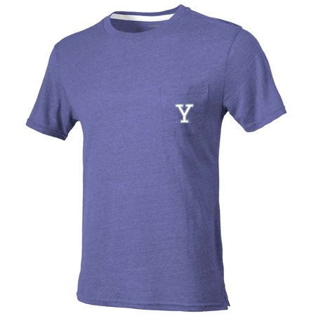 Yale Bulldogs Quarterback Pocket Tri-Blend T-Shirt - Heathered Navy ()