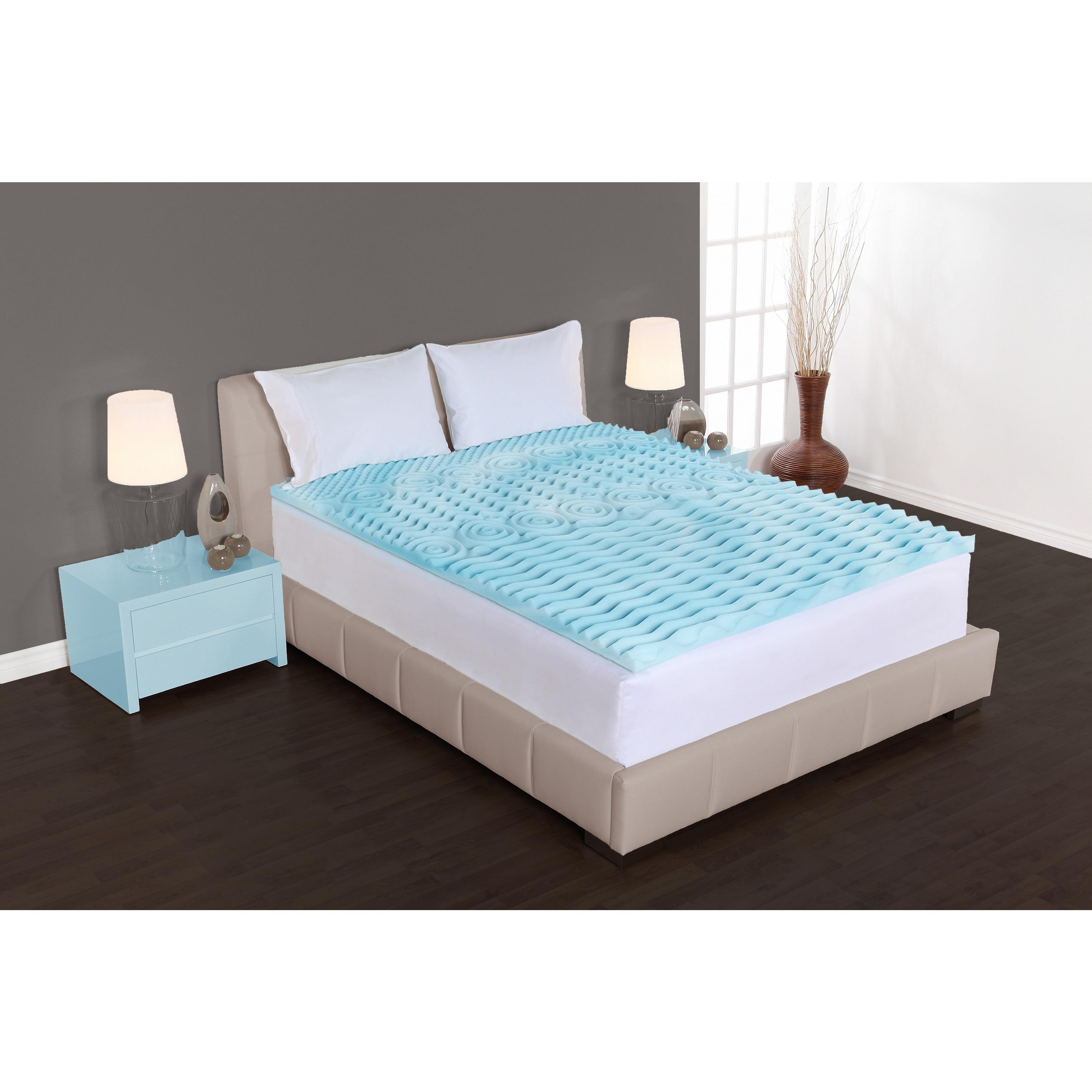 authentic comfort 2inch comfort rx 5zone foam mattress topper walmart com