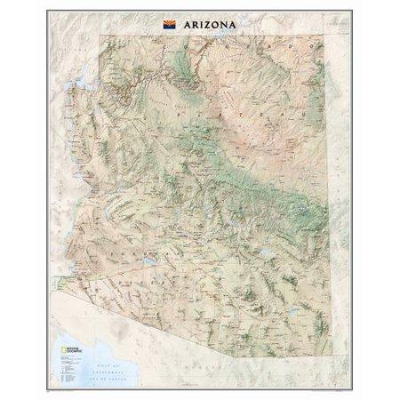 National Geographic Maps Arizona State Wall Map