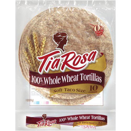 Tia Rosa 100% Whole Wheat Tortillas, 10ct