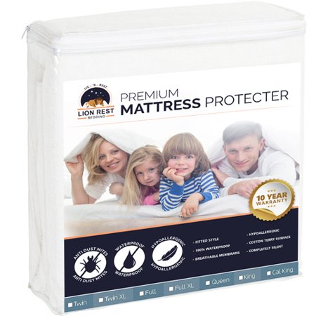 Lion Rest Twin Size Fitted Mattress Protector Fitted Mattress (Lion Rests)