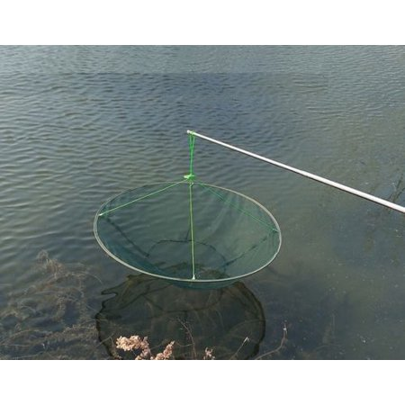 31'' Foldable Prawn Minnow Crab Shrimp Drop Fishing Net Pier Harbour Pond Mesh