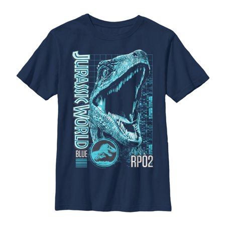 jurassic world: fallen kingdom boys' fallen kingdom blue portrait t-shirt](Boys Kingdom)