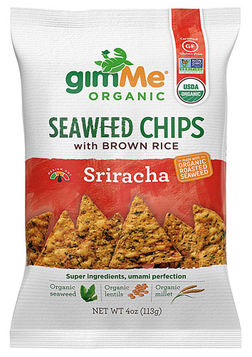 GimMe Chips Seaweed Rice Chips Sriracha -- 4 oz pack of 2 by Gimme