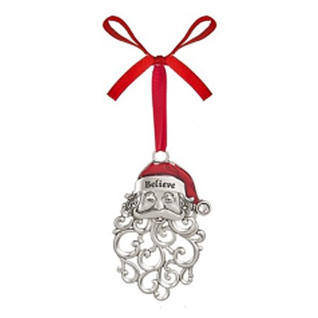 Believe Jolly Santa Face Ornament - By Ganz