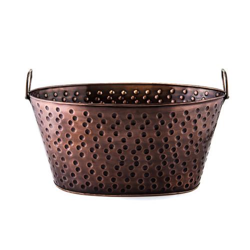 4 Gallon Antique Copper Party Tub
