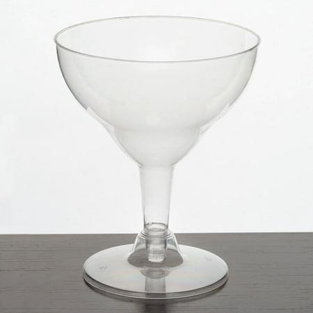Efavormart 60 Pcs  - Clear 5.5oz Voguish Margarita Glass - Margarita Glasses In Bulk