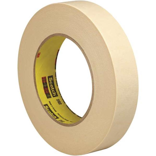 Scotch T9352026PK 1 in. x 60 yards 202 Masking Tape, Natural - Pack of 6