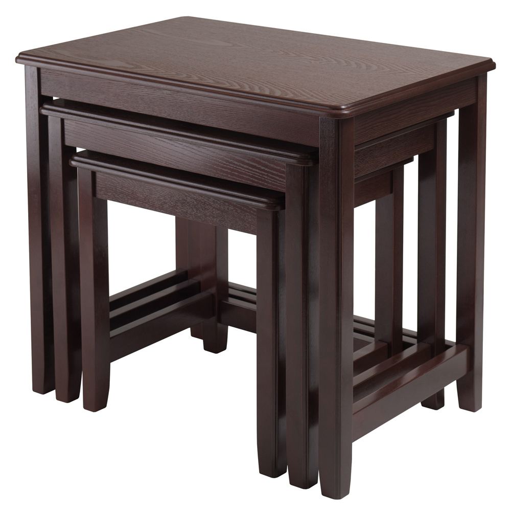 Winsome Trading 40322 Trina 3pc Nesting Table
