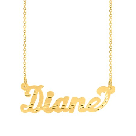 Personalized Sterling Silver, 14K Gold Plated Sterling Silver, 10K Gold or 14K Gold