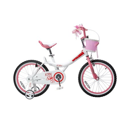 Royalbaby Jenny Princess Pink Girl\'s Bike with Training Wheels and Basket, Perfect Gift for Kids, 18 inch wheels