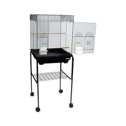 YML Flat Top Small Bird Cage with Stand