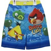 Little Boys Sky Blue Character Printed Swim Wear Shorts 3T