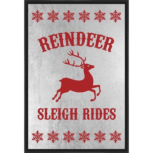 PTM Images Reindeer Sleigh Rides Framed Textual Art