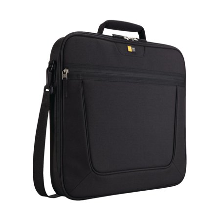 "Case Logic 17.3"" Clamshell Laptop Briefcase, Black"