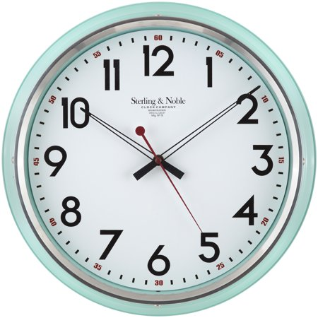 - Better Homes & Gardens Mint Retro Clock, 1 Each