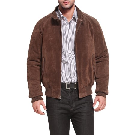 Mens Camel Hair Coat - Men's WWII Suede Leather Bomber Jacket - Big & Tall