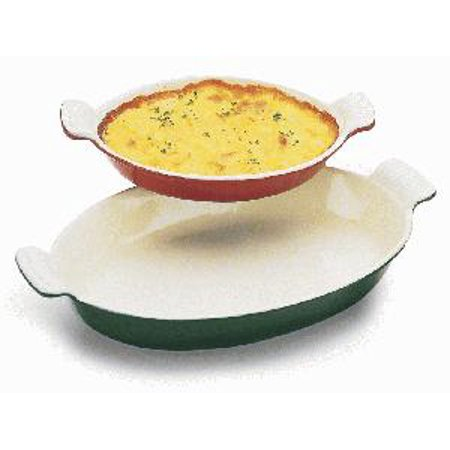 Paderno World Cuisine Chasseur 1/2 Qt. Enamel Cast-Iron Oval Casserole Dish 7 7/8