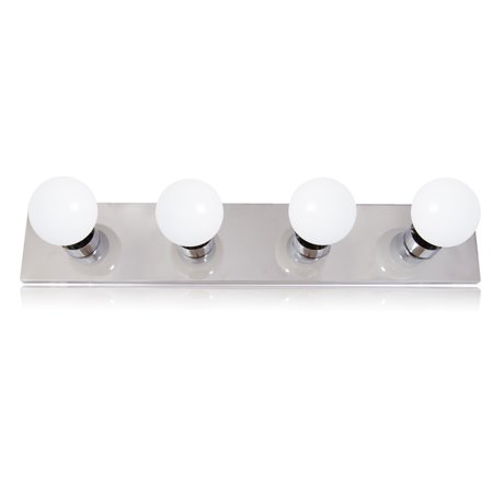 Maxxima 4-Bulb Bathroom Vanity Light Fixture, Chrome Finish, 2Ft. Light Strip (LED G25 Bulbs Included) ()