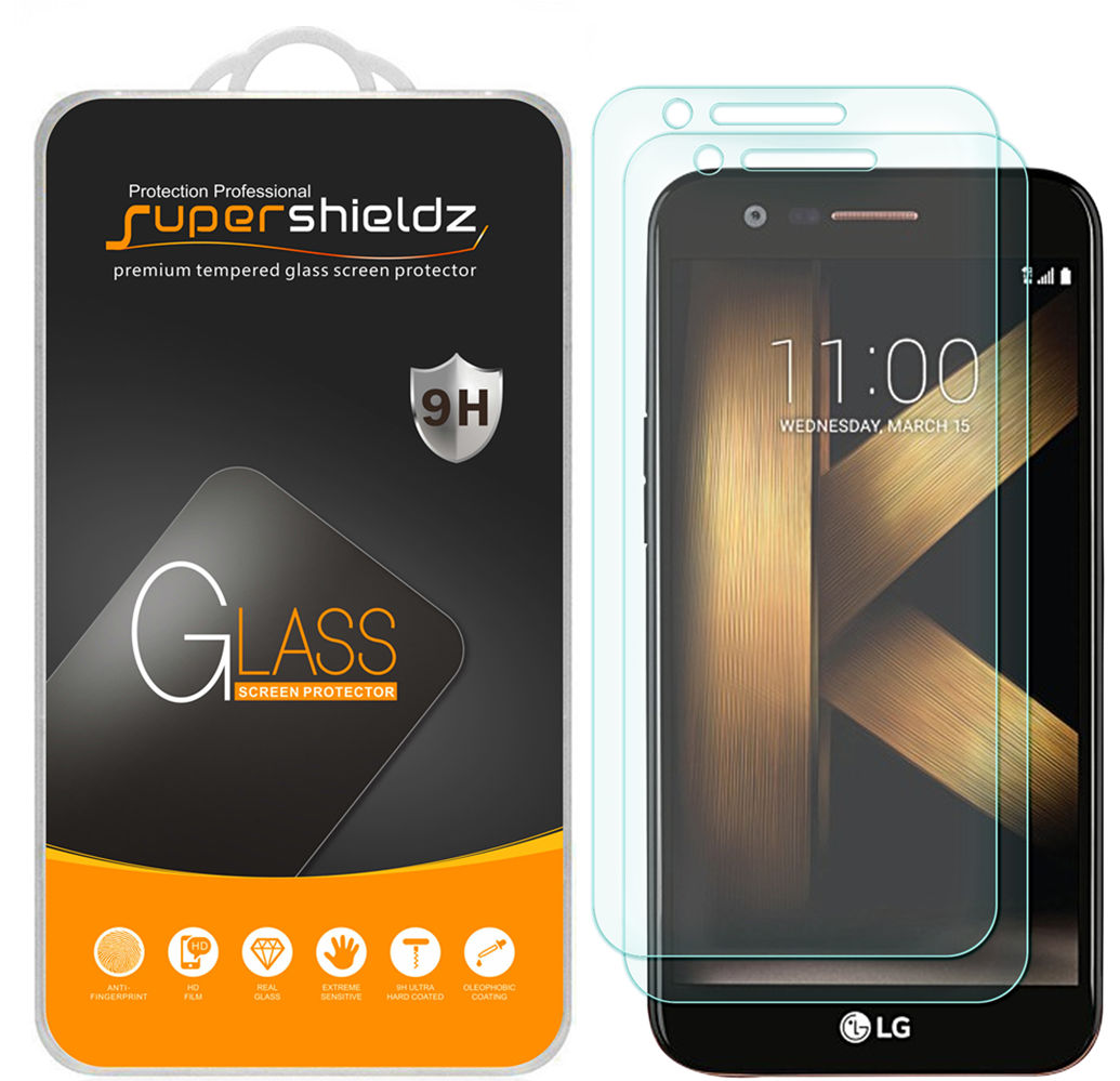 [2-Pack] Supershieldz for LG K20 V / K20V Tempered Glass Screen Protector, Anti-Scratch, Anti-Fingerprint, Bubble Free