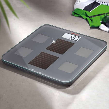 Soehnle Solar Fit Body Precision Digital Analysis Bmi Bathroom Scale  330 Lb Capacity  Grey