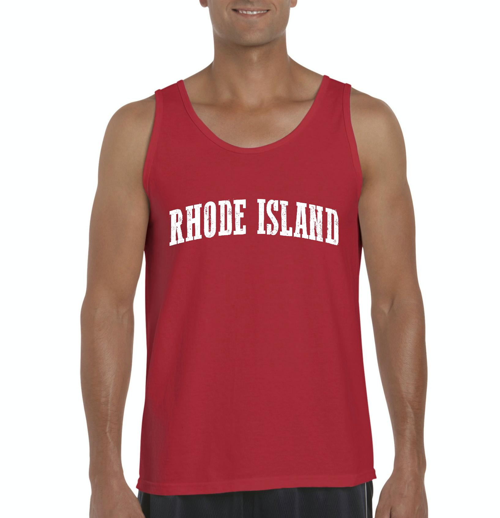 J_H_I RI Rhode Island Providence Map Home of Rams University of Rhode Island  Mens Tanks