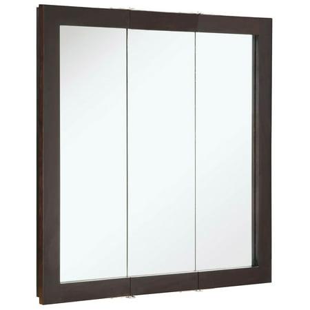 Design House 541342 Ventura Tri View Medicine Cabinet Mirror 30 Espresso