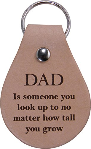 husband gift dad keychain leather key chain to me you are the World father/'s day gift DAD KEYCHAIN Gift Boxed Made in the USA