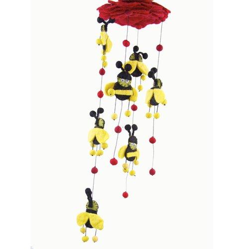 Zoomie Kids Chavers Felt Bumble Bee Mobile