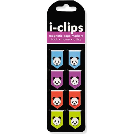 Panda I-Clips Magnetic Page Markers (Set of 8 Magnetic Bookmarks) (Other) ()
