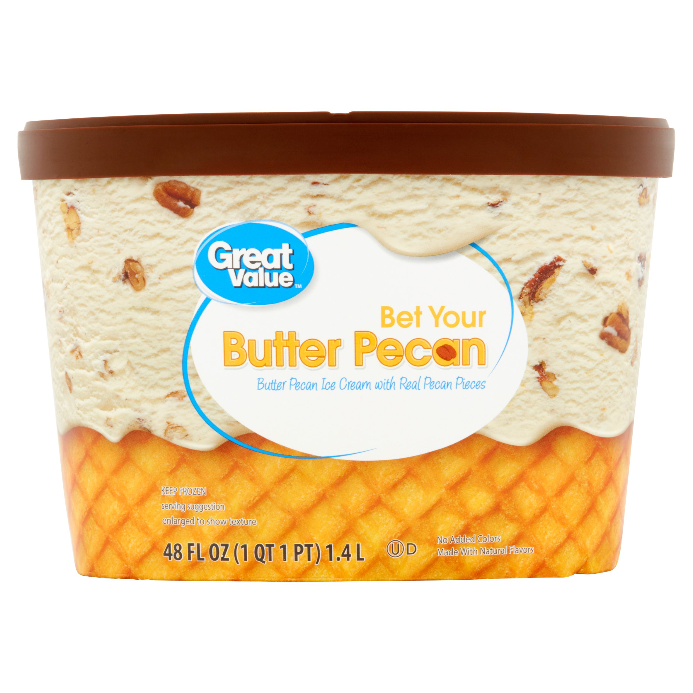 Great Value™ Butter Pecan Ice Cream, 48 fl oz