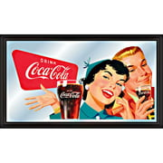 Coca-Cola Vintage Mirror, Horizontal Couple Enjoying Coke