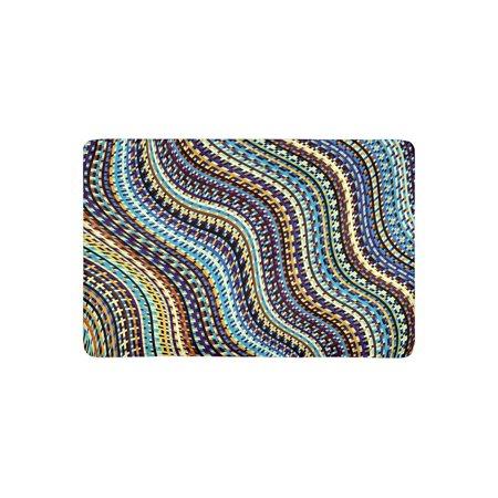 yusdecor abstract mosaic pattern blue wavy fractal image