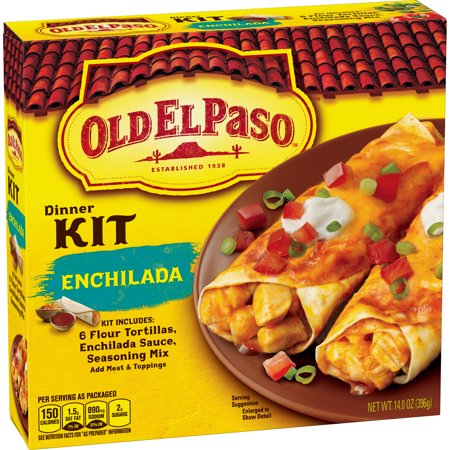 (2 Pack) Old El Paso Enchilada Dinner Kit, 14 oz Box - Party World El Paso