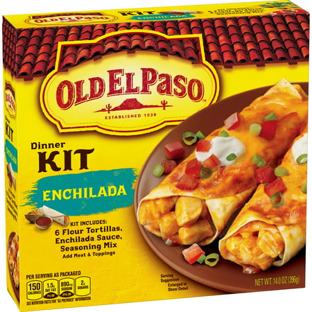 - (2 Pack) Old El Paso Enchilada Dinner Kit, 14 oz Box