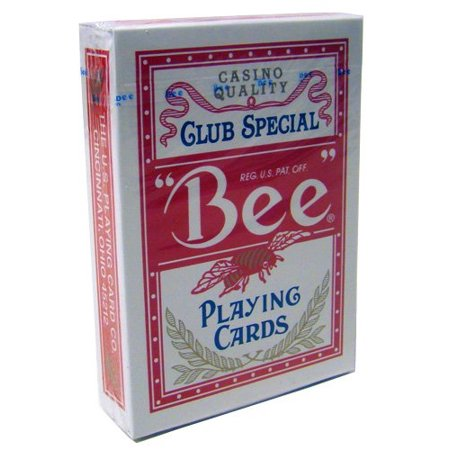 Bee No.92 Standard Index Poker Playing Cards - 1 Sealed Red (Index Bee Poker)
