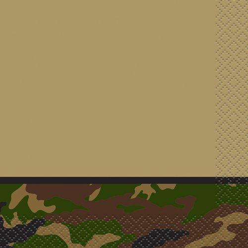 Military Camo Beverage Napkins, 16ct