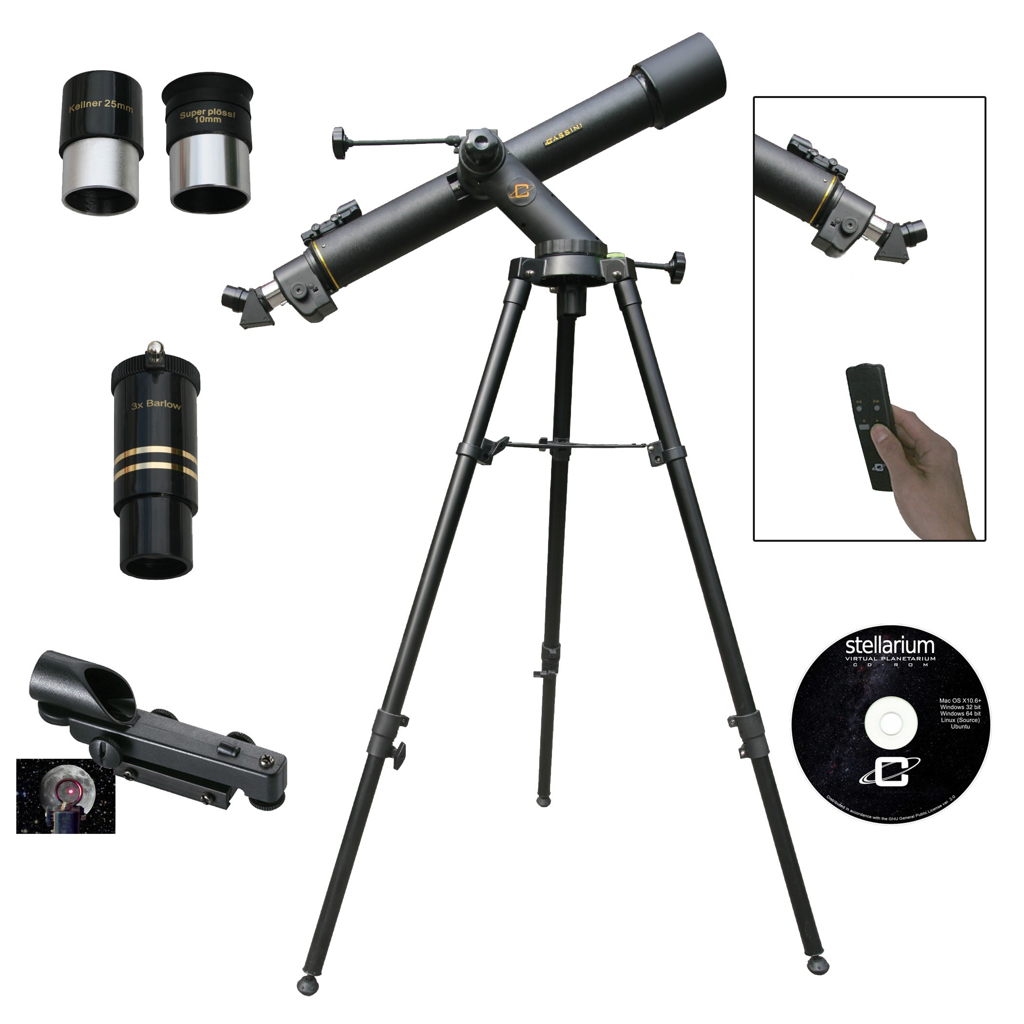 CASSINI  C-80072TREF 800mm x 72mm Electronic Focus Astronomical/Terrestrial Telescope