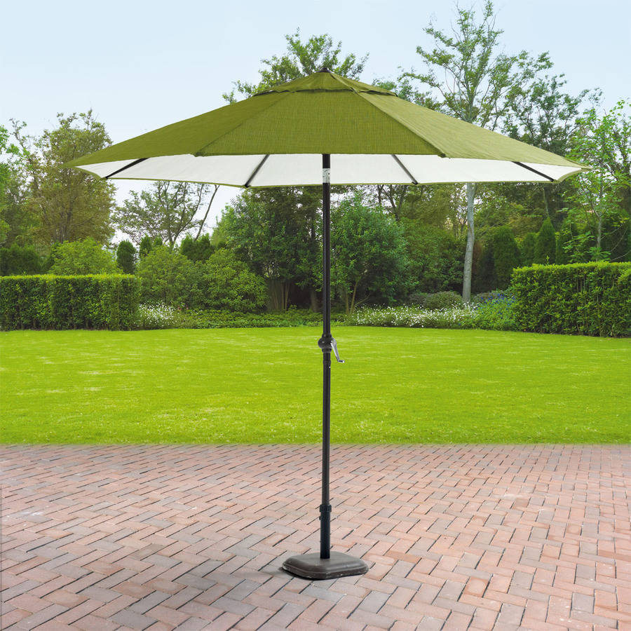 Mainstays Crossman 9' Umbrella, Green - Walmart.com - Patio Umbrellas Walmart Our Designs
