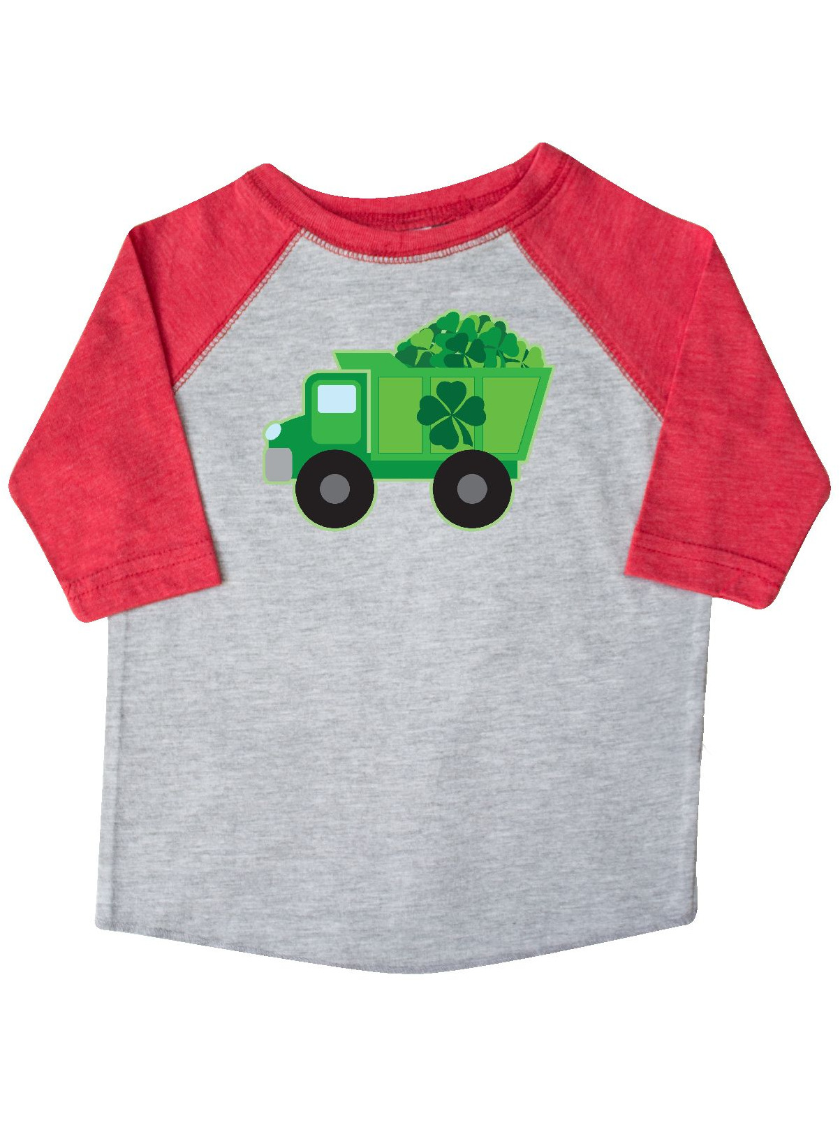St Patricks Day Irish Clover Dump Truck Childs Toddler T-Shirt
