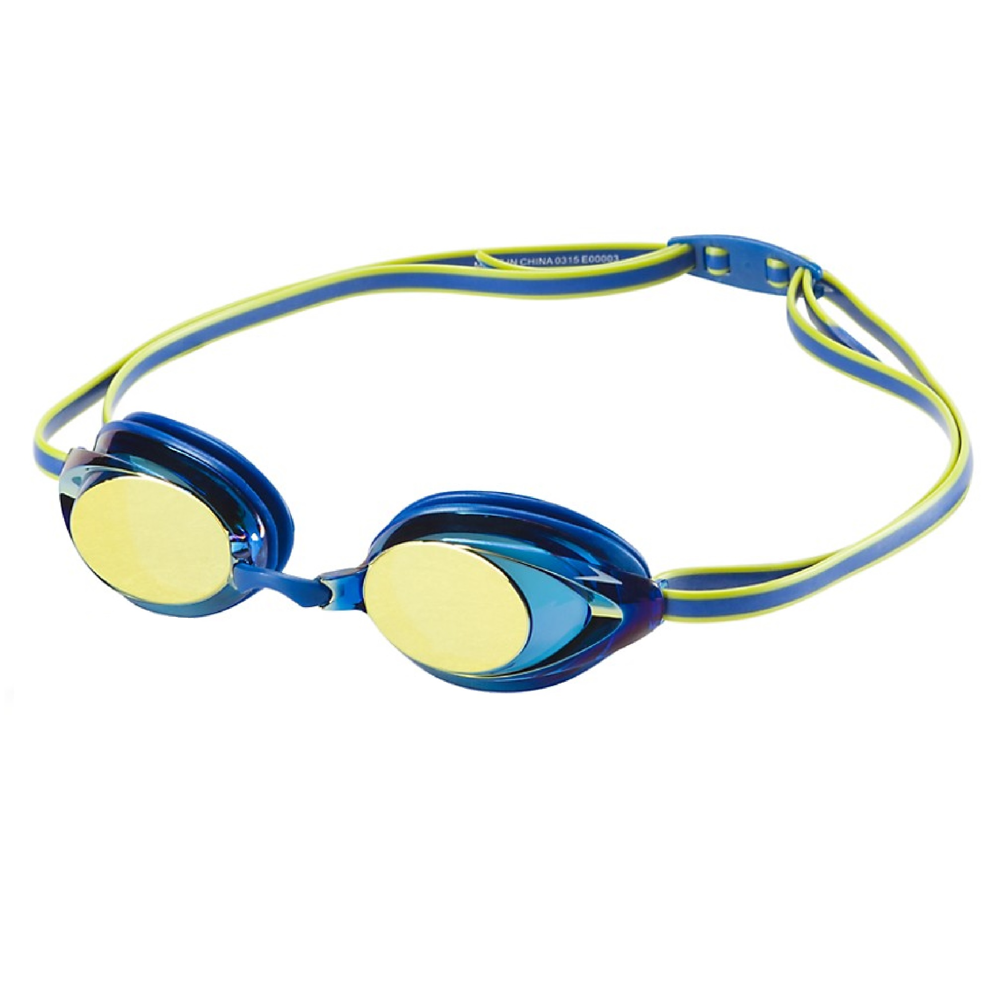 Speedo Jr. Vanquisher 2.0 Mirrored Swim Swimming Pool Competition Goggle, Silver by Speedo