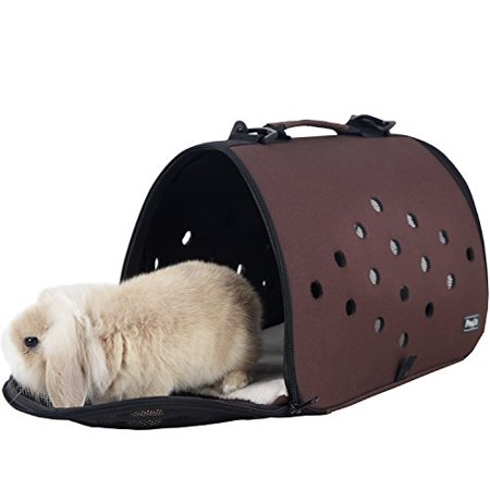 petsfit 16 x 9 x 9 inches pet carrier eva , soft-sided pet carrier, cat carrier,ferret carrier,bunny carrier for small pet - Bunny Carrier