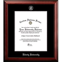 Liberty University 14w x 17h Silver Embossed Diploma Frame
