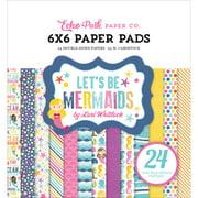 "Echo Park Double - Sided Paper Pad 6"" x 6"" 24/Pkg - Let's Be Mermaids"