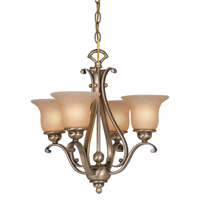 Vaxcel International CH35404RBZB 4 Light Monrovia Chandelier - Dual Mount, Royal Bronze