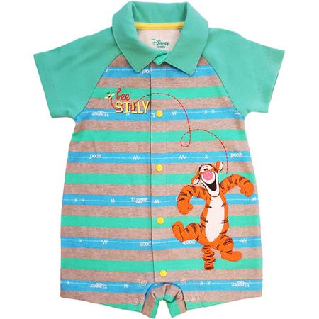 320cc906bf42 Winnie the Pooh - Newborn Baby Boy Collared Short Sleeve Tigger ...