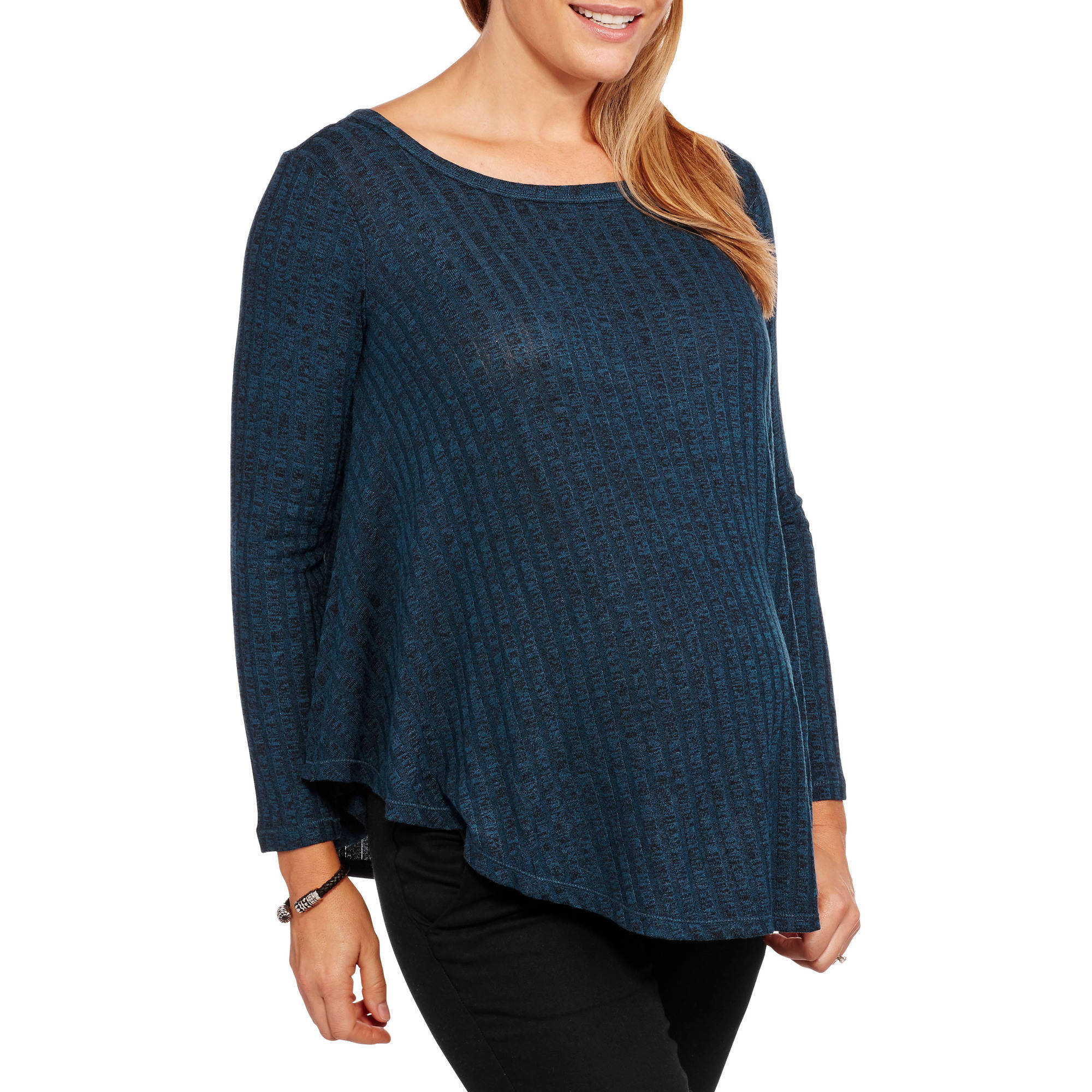 Inspire Maternity Ribbed Hacci Swing Top