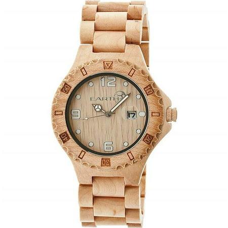 - Earth Wood ETHEW1701 Ray Unisex Bracelet Watch with Date, Khaki & Tan